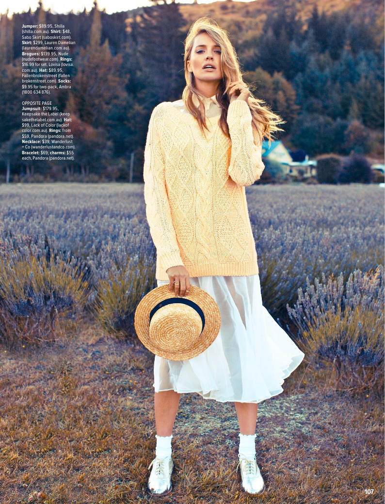 pastel fashion cosmo2 Ashley Osborne Wears Perfect Pastels for Cosmopolitan Australia