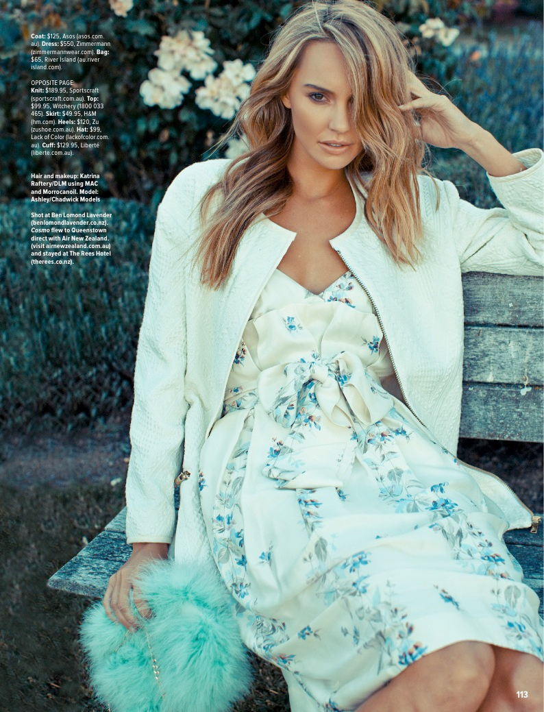 pastel fashion cosmo8 Ashley Osborne Wears Perfect Pastels for Cosmopolitan Australia