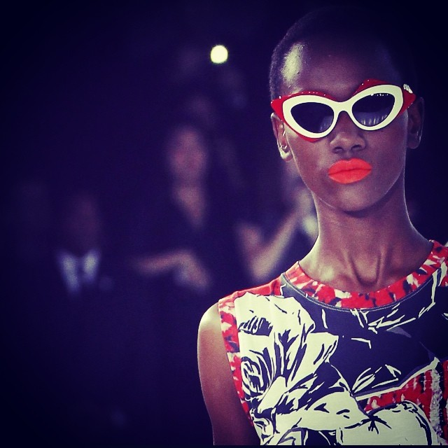 Model at Prabal Gurung's spring 2014 runway show. Image: Designer's Instagram