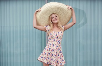 Ashley Smith Models Reformation's Dress Collection for Busty Women