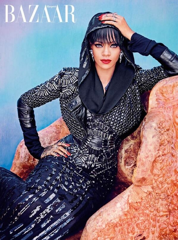 rihanna arabia shoot3 Rihanna Keeps it Covered for Harper's Bazaar Arabia Shoot