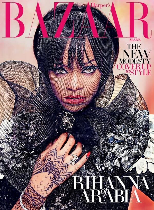 rihanna arabia shoot6 Rihanna Keeps it Covered for Harper's Bazaar Arabia Shoot