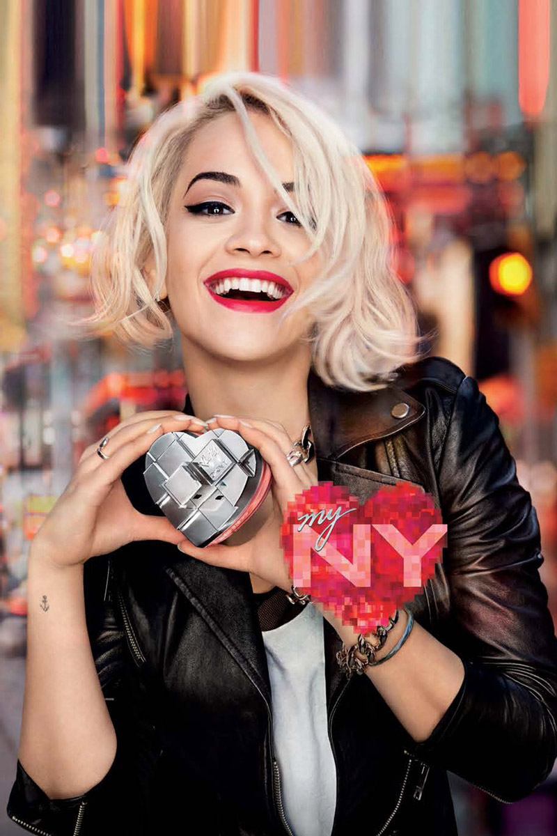 "Rita Ora Poses in Times Square for DKNY's ""My NY"" Fragrance Ad"