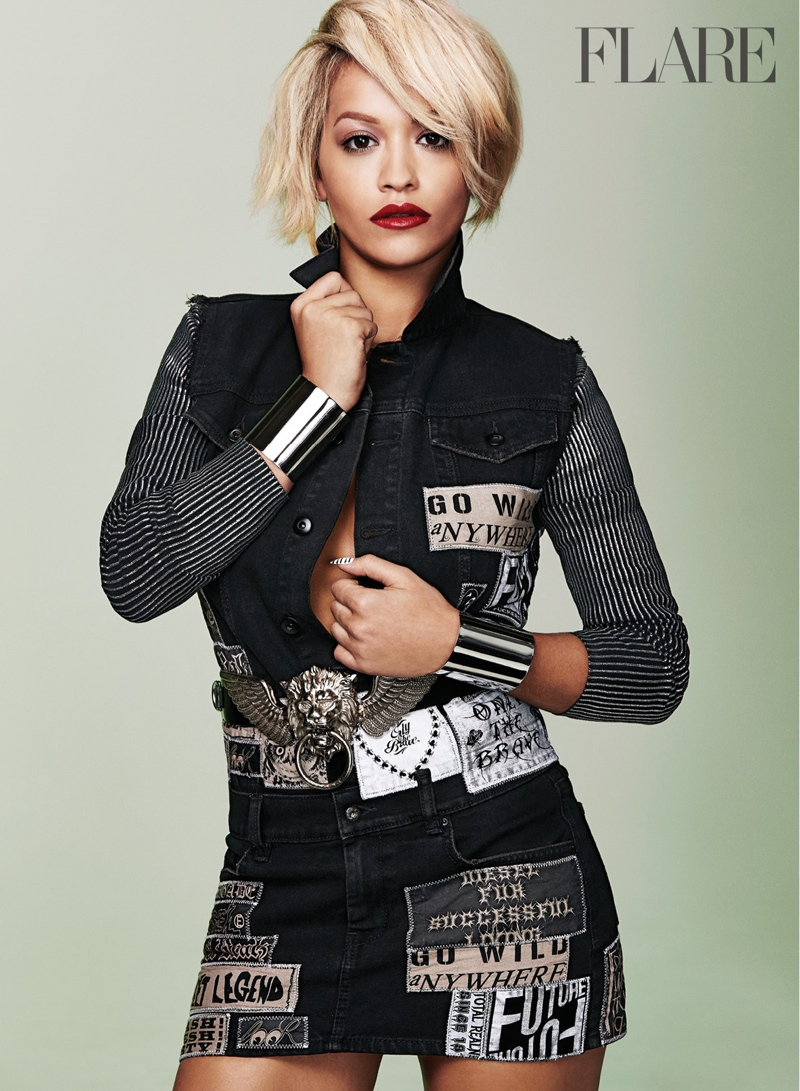 rita ora flare photos1 Rita Ora Stars in Flare, Reveals Instagram Is Like a Drug to Her