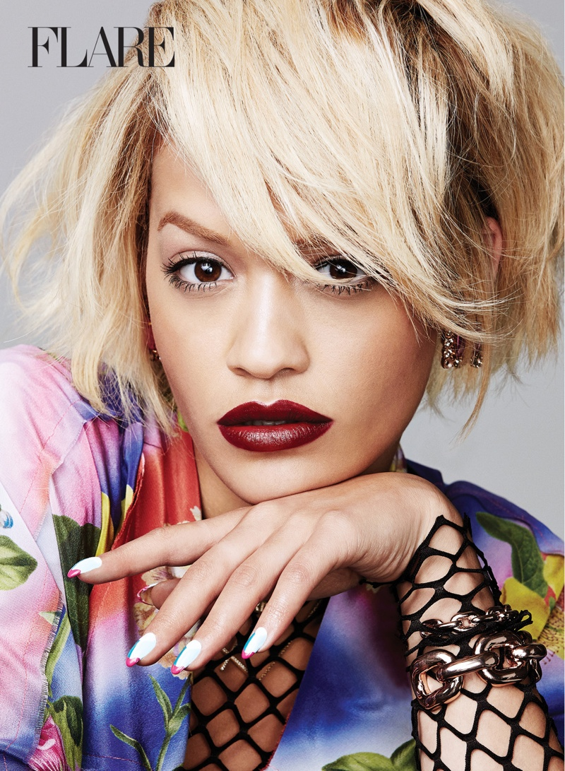 rita ora flare photos3 Rita Ora Stars in Flare, Reveals Instagram Is Like a Drug to Her