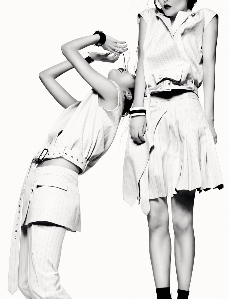 robert longo greg kadel photos6 Homage to Robert Longo: Sung Hee Kim & JiHye Park Pose for Greg Kadel in Numero