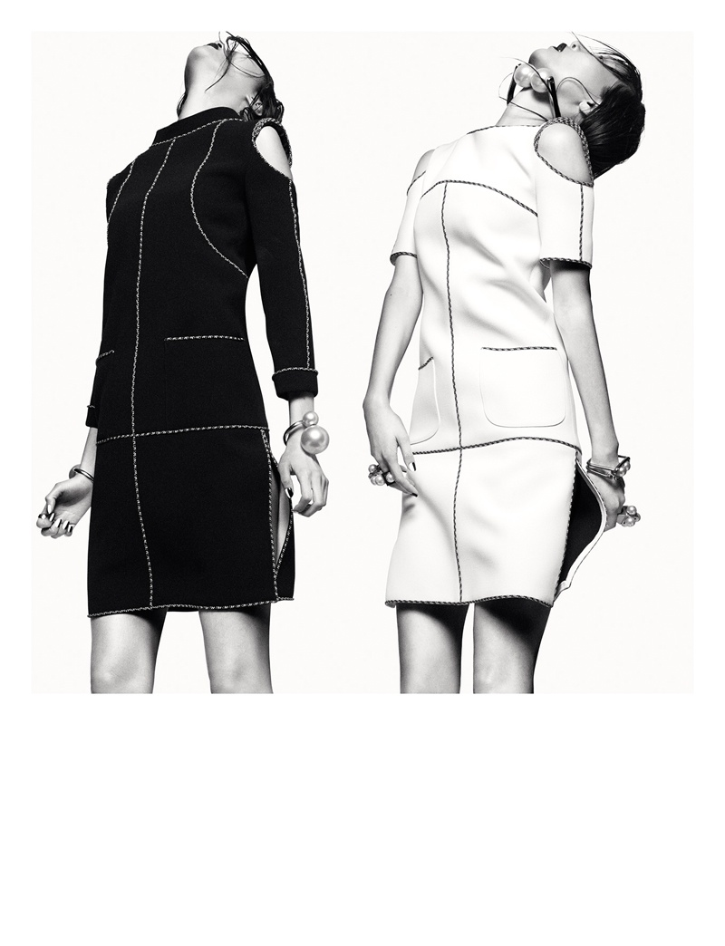 robert longo greg kadel photos8 Homage to Robert Longo: Sung Hee Kim & JiHye Park Pose for Greg Kadel in Numero