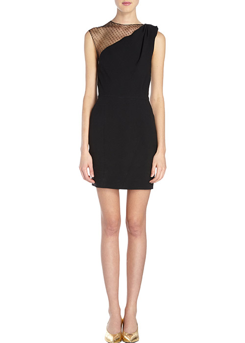 saint laurent sequin mesh shoulder sheath dress1 Barneys Designer Sale is Here!