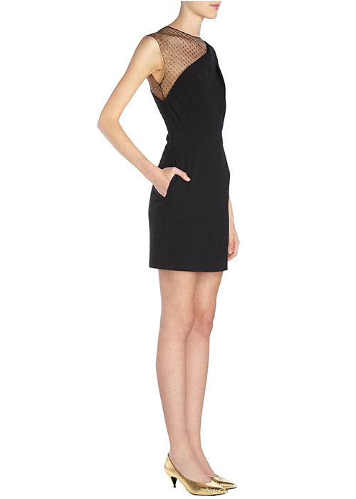 saint laurent sequin mesh shoulder sheath dress2 Barneys Designer Sale is Here!