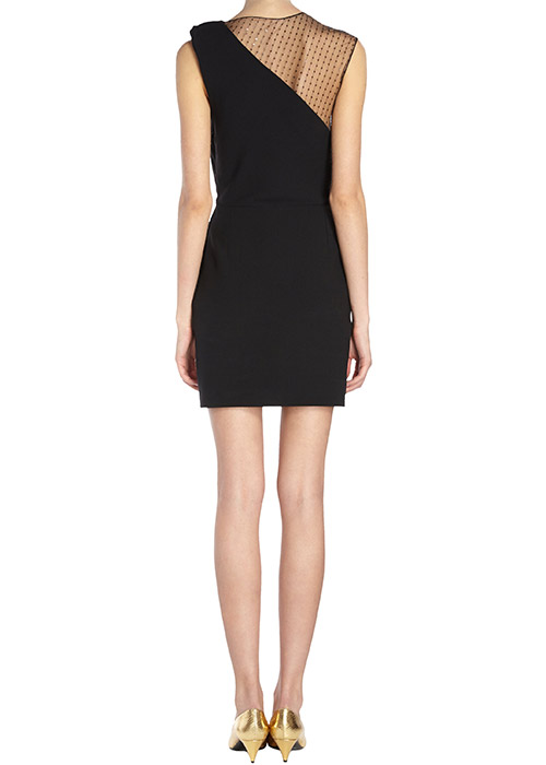 saint laurent sequin mesh shoulder sheath dress3 Barneys Designer Sale is Here!