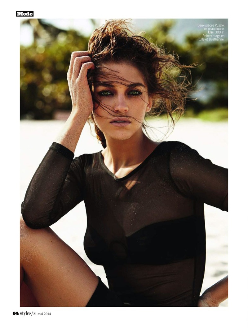 samantha gradoville swimwuit shoot8 Samantha Gradoville Has a Sizzling Summer in LExpress Styles Spread