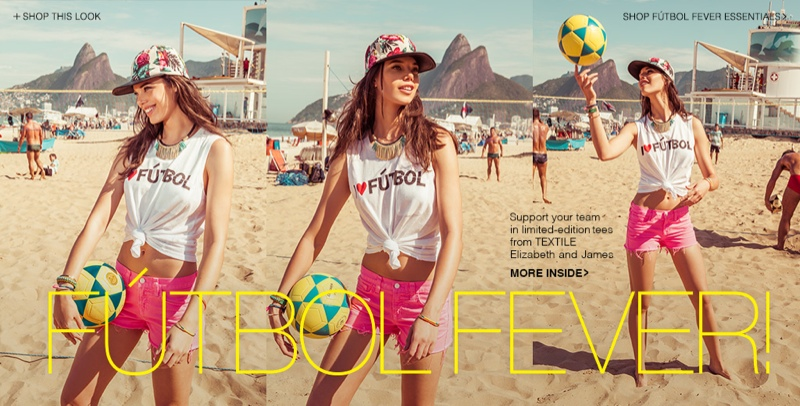 shopbop world cup1 World Cup Fever! TEXTILE Elizabeth and James Special Collection Debuts at Shopbop