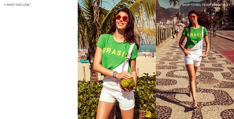 World Cup Fever! TEXTILE Elizabeth and James Special Collection Debuts at Shopbop