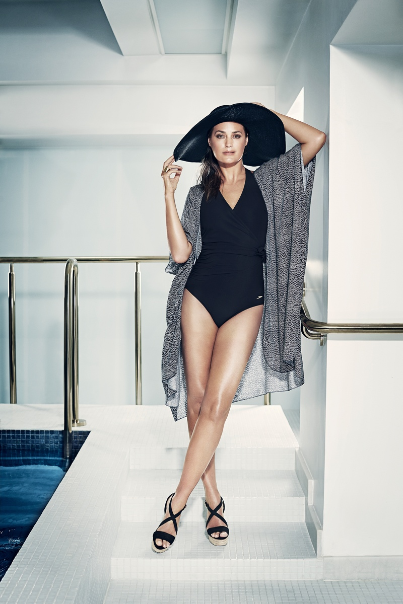 speed sculpture swimsuits 2014 5 At 49, Yasmin Le Bon Wears Swimsuits in Speedo Sculpture Ads