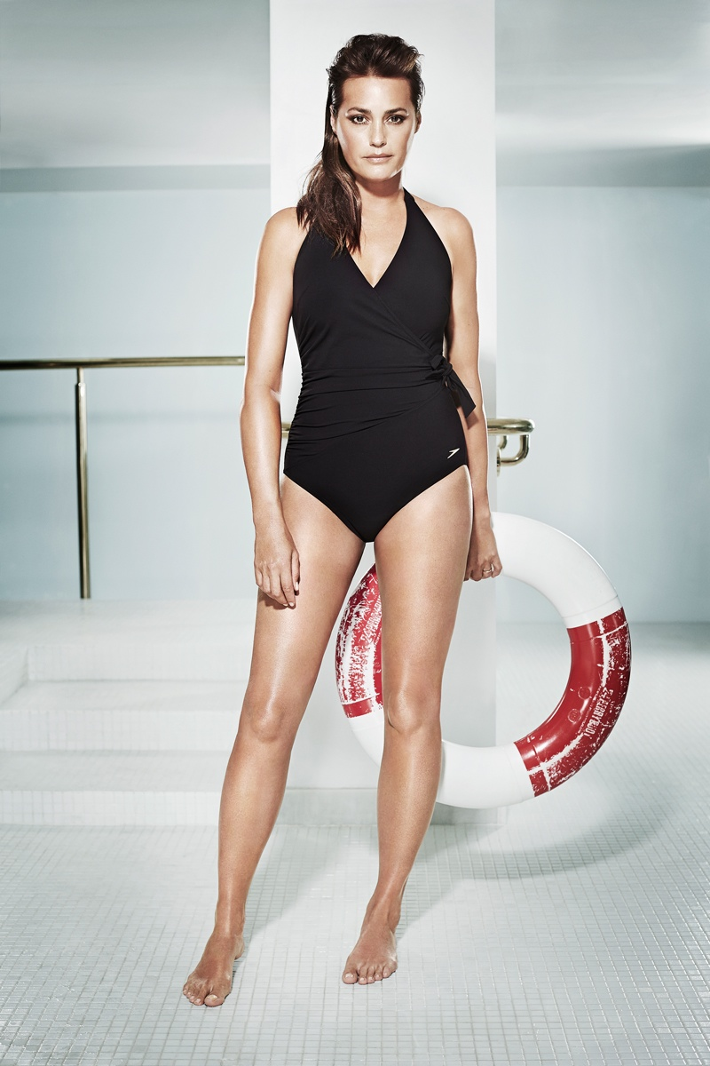 speed sculpture swimsuits 2014 6 At 49, Yasmin Le Bon Wears Swimsuits in Speedo Sculpture Ads