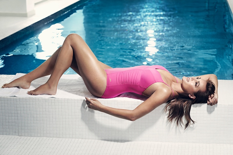 speed sculpture swimsuits 2014 7 At 49, Yasmin Le Bon Wears Swimsuits in Speedo Sculpture Ads