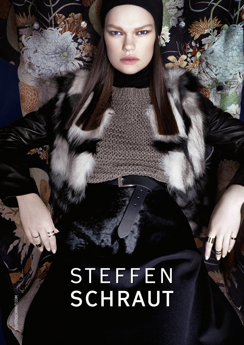 steffen schraut fall 2014 campaign1 Kelly Mittendorf Sits for Steffen Schrauts Fall 2014 Ads by Alexx and Anton