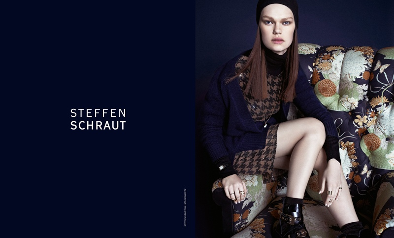 steffen schraut fall 2014 campaign2 Kelly Mittendorf Sits for Steffen Schrauts Fall 2014 Ads by Alexx and Anton