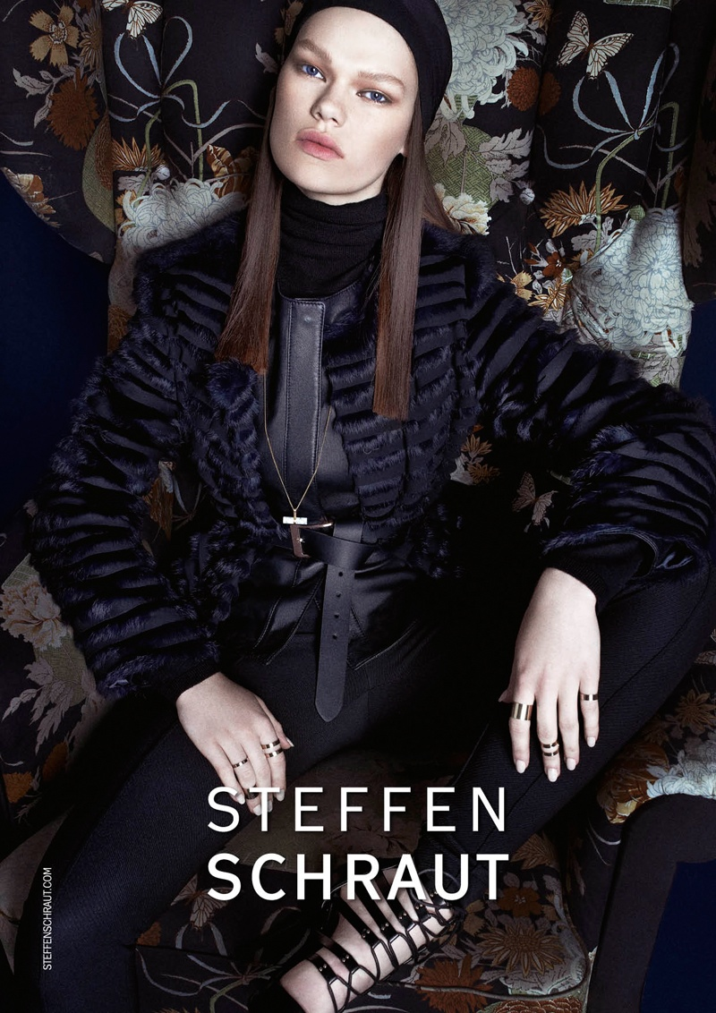 steffen schraut fall 2014 campaign3 Kelly Mittendorf Sits for Steffen Schrauts Fall 2014 Ads by Alexx and Anton