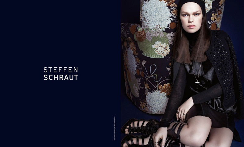 steffen schraut fall 2014 campaign4 Kelly Mittendorf Sits for Steffen Schrauts Fall 2014 Ads by Alexx and Anton