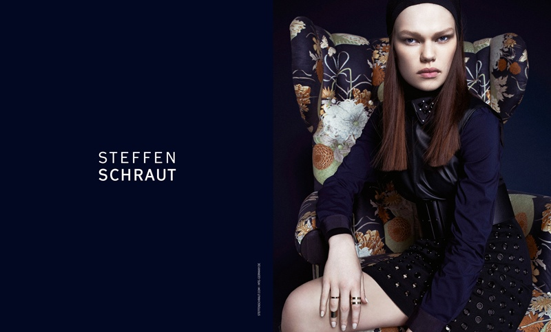 steffen schraut fall 2014 campaign6 Kelly Mittendorf Sits for Steffen Schrauts Fall 2014 Ads by Alexx and Anton