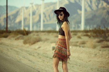 Stylebop Launches Designer Collaboration for Festival Season Modeled by Langley Fox Hemingway