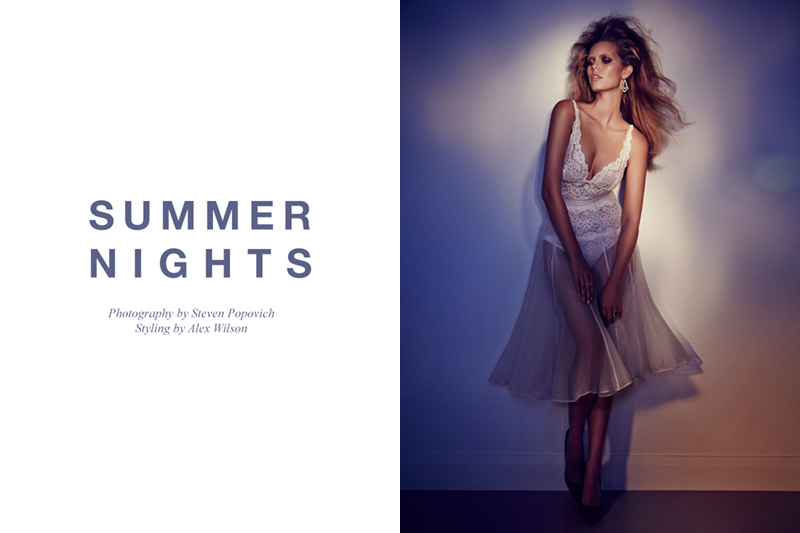 "FGR Exclusive | Phoebe Griffiths by Steven Popovich in ""Summer Nights"""