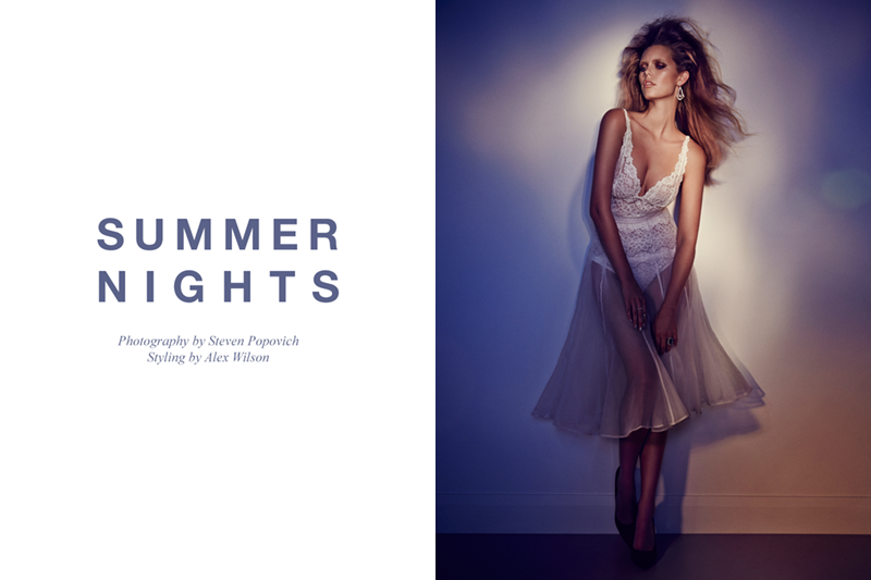 summer nights FGR Exclusive | Phoebe Griffiths by Steven Popovich in Summer Nights