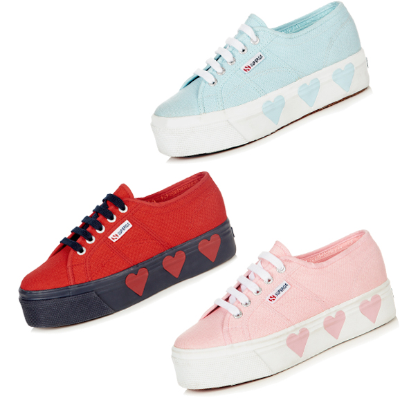 All three styles from Suki Waterhouse and Superga's collaboration. Photo: Elle UK