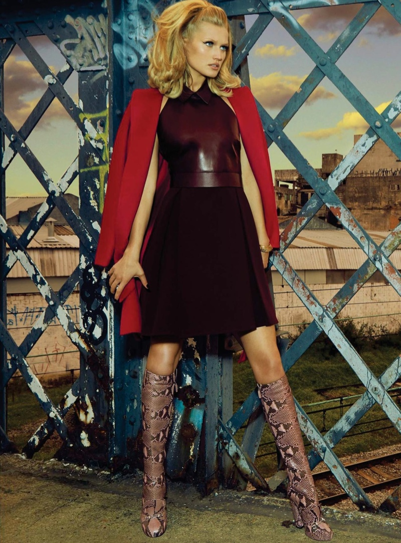 toni garrn model 2014 1 Toni Garrn Glams it Up for Henrique Gendre in S Moda Cover Story