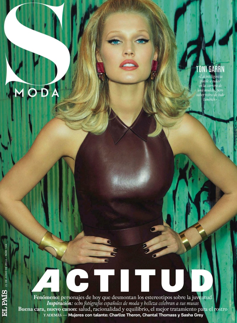 toni garrn model 2014 8 Toni Garrn Glams it Up for Henrique Gendre in S Moda Cover Story