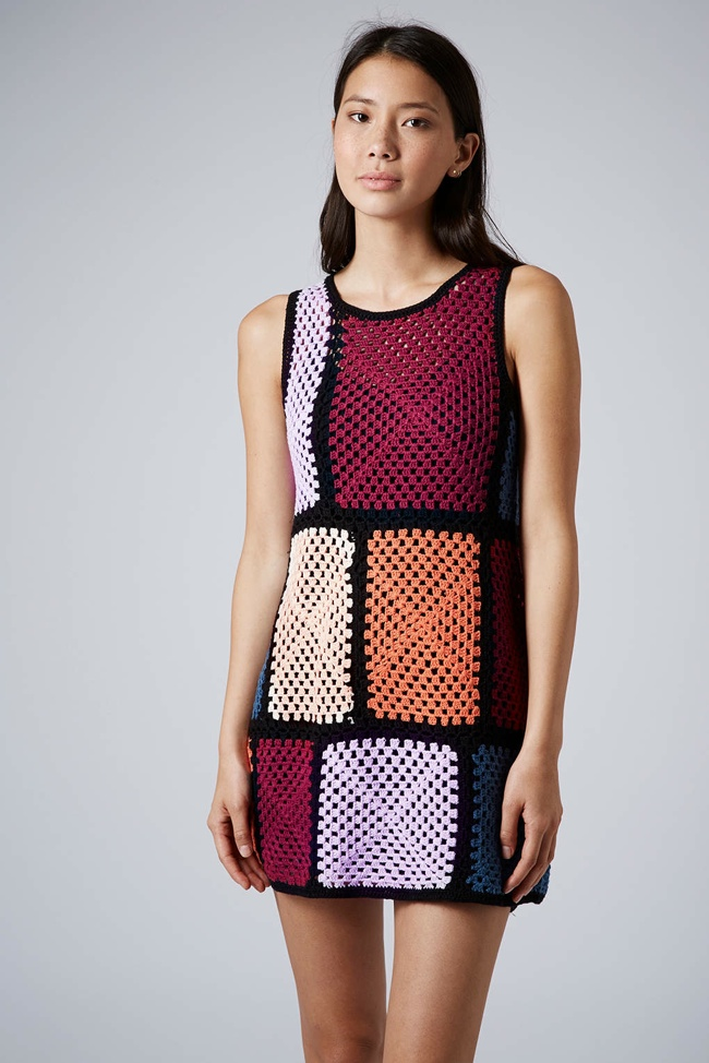 GRAPHIC PLAY: Crochet Patch Dress available at Topshop for $120.00