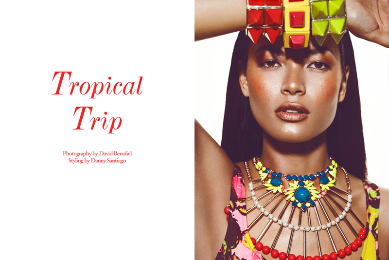 "tropic FGR Exclusive | Angela Ruiz by David Benoliel in ""Tropical Trip"""