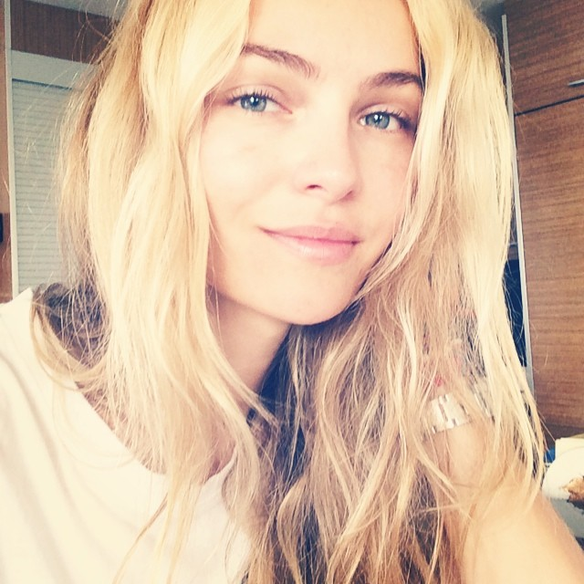 Valentina Zelyaeva takes a selfie