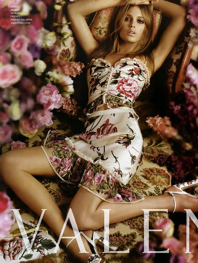 valentino spring 2006 ad campaign3 TBT | Doutzen Kroes is a Vision for Valentinos Spring 2006 Ad Campaign