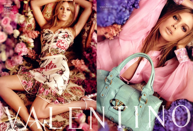valentino spring 2006 ad campaign4 TBT | Doutzen Kroes is a Vision for Valentinos Spring 2006 Ad Campaign