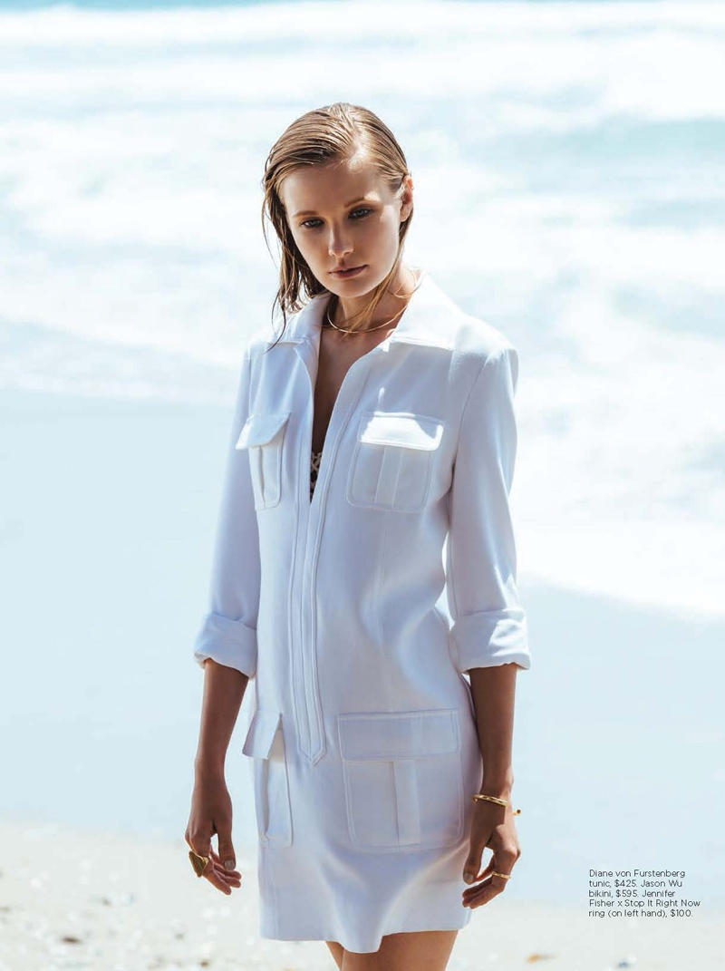 white style c magazine3 Olga Voronova Models Beach Ready Fashion for C Magazine