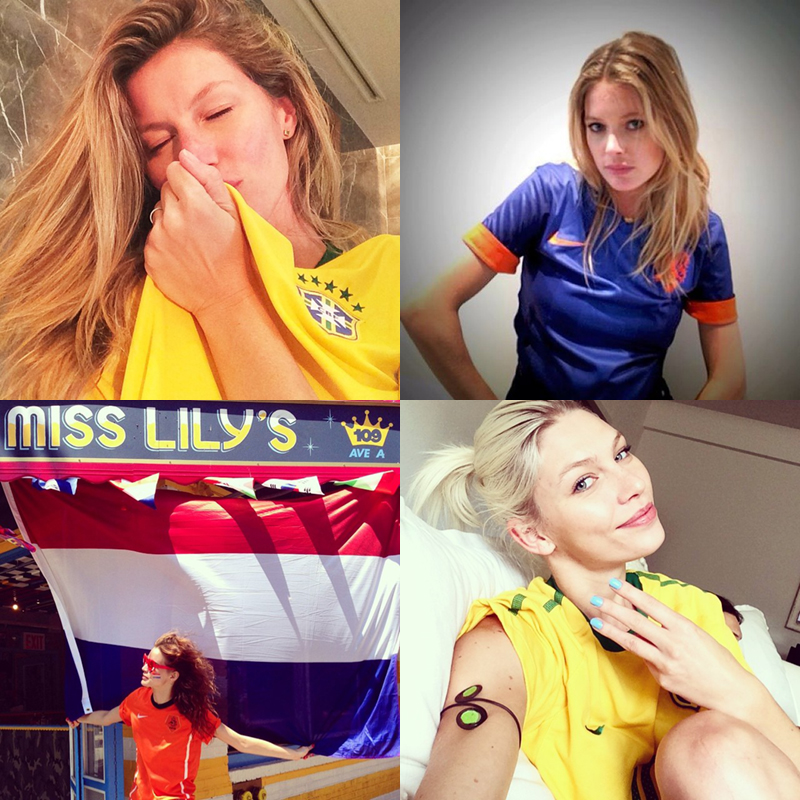 world cup models World Cup 2014: Models Showing Love for Their Teams