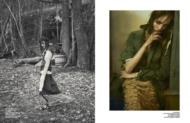zuzanna bijoch scare crow2 Zuzanna Bijoch Gets Gritty for Scandinavia S/S/A/W Shoot