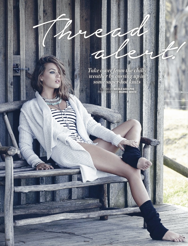 Amanda Mondale Model1 Thread Alert! Amanda Mondale in Knits for Cosmopolitan Australia