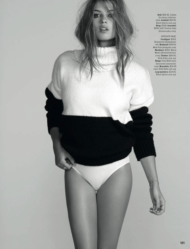 Amanda Mondale Model2 Thread Alert! Amanda Mondale in Knits for Cosmopolitan Australia