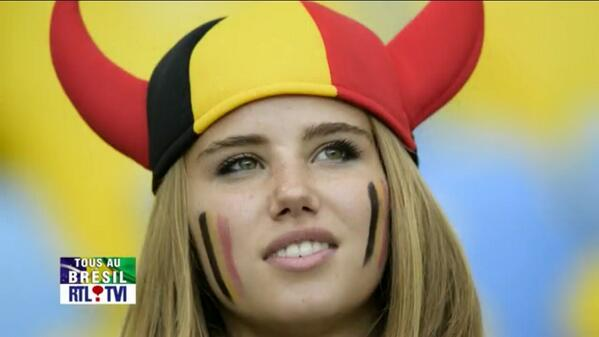 Screen Cap of Axelle Despiegelaere on Jumbo Tron During World Cup. Image: Twitter