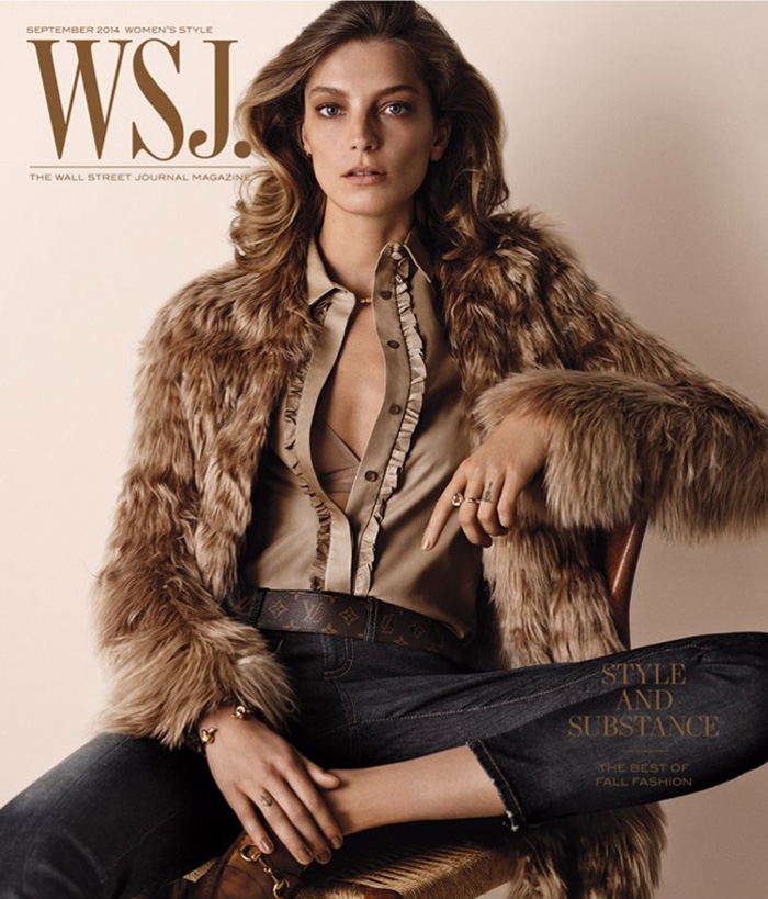 Daria Werbowy WSJ Magazine September 2014 Cover Daria Werbowy Looks 70s Chic on WSJ Magazine September 2014 Cover