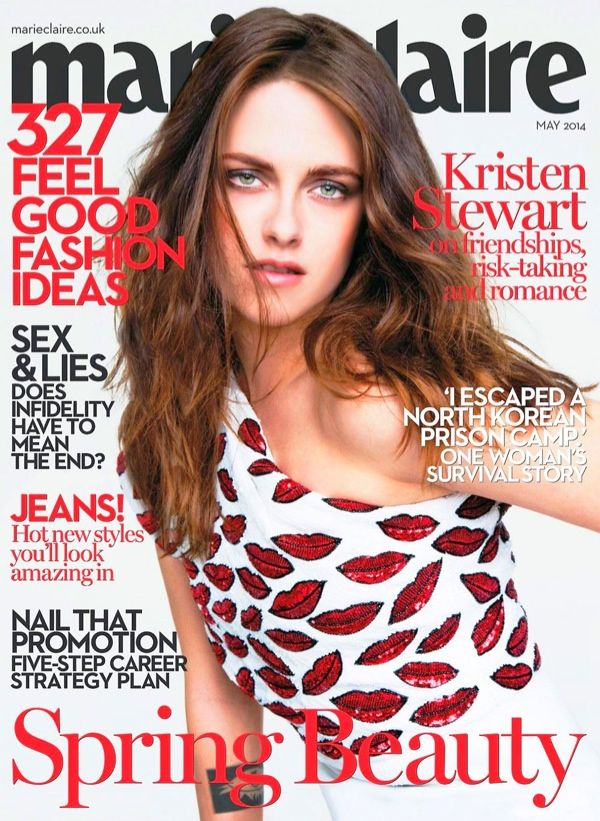Kristen Stewart on Marie Claire UK May 2014 Cover in Saint Laurent