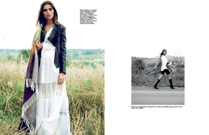 Maja Latinovic Model2 Maja Latinovic is Nomadic Chic for Elle Serbia August Cover Shoot