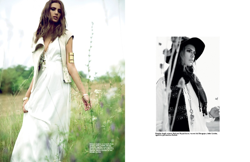 Maja Latinovic Model4 Maja Latinovic is Nomadic Chic for Elle Serbia August Cover Shoot
