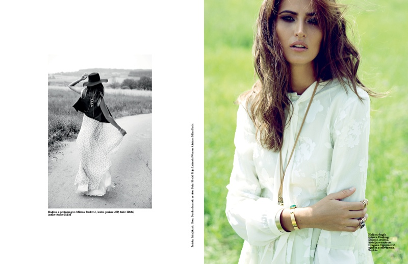 Maja Latinovic Model6 Maja Latinovic is Nomadic Chic for Elle Serbia August Cover Shoot