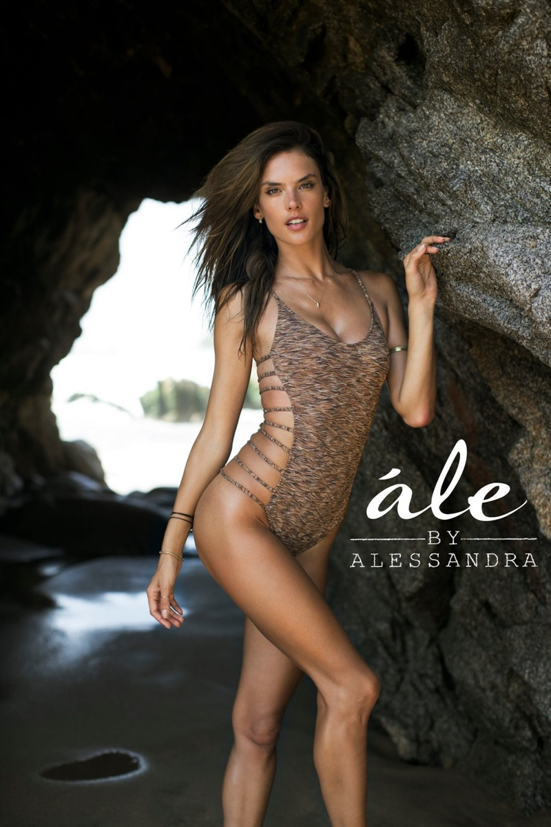 Alessandra Ambrosio Launches Ale Swimsuit 2014 Campaign Campaign1 Photoshoot