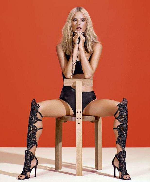 Alessandra Ambrosio Goes Blonde for Schutz Campaign