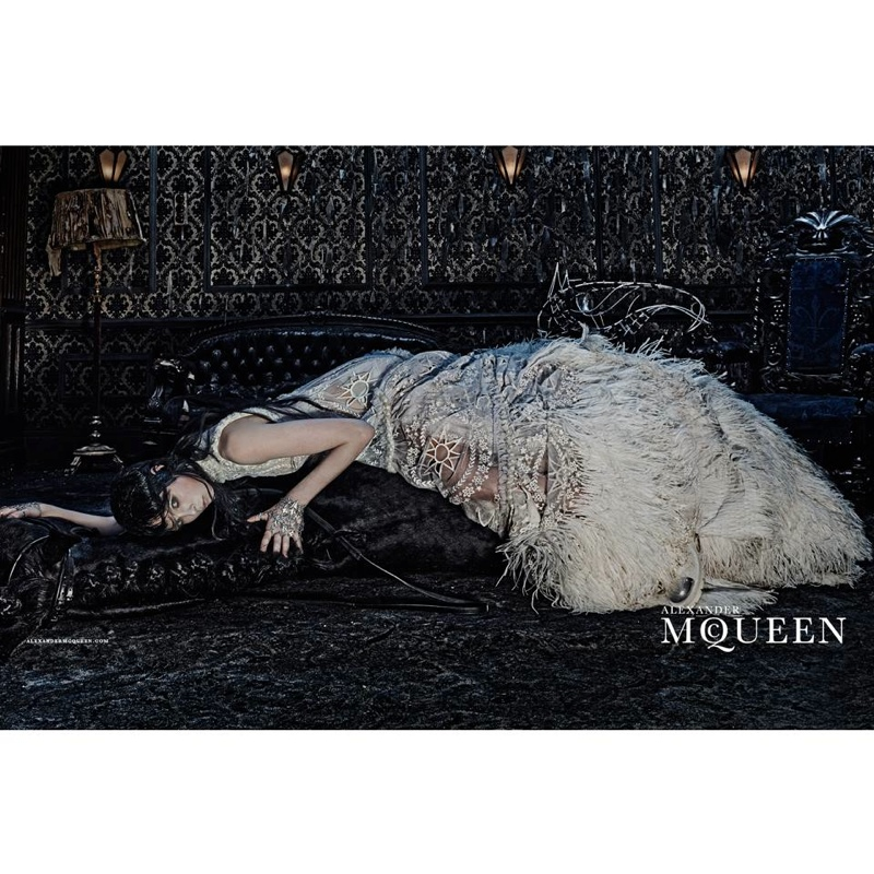 alexander mcqueen 2014 fall winter campaign3 Edie Campbell Gets Equestrian for Alexander McQueens Fall 2014 Campaign